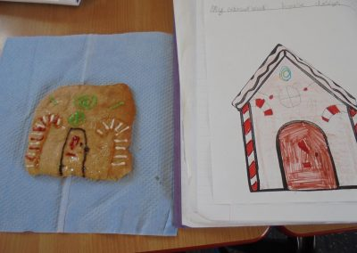 KS1 Design & Technology – Gingerbread houses