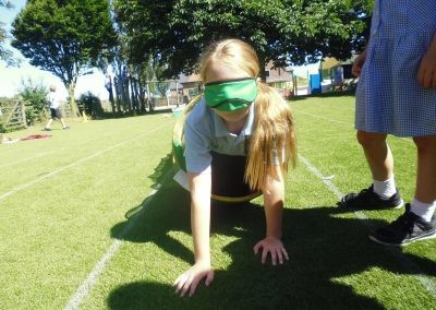 KS2 Blindfolded Obstacle Course
